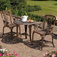 Three-Piece Rose Armchair Bistro Set - Bronze