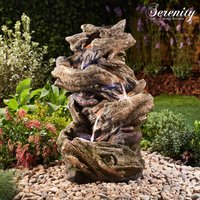 Serenity Four-Tier Wood-Effect Water Feature