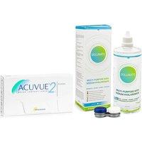 Acuvue 2, 6er Pack + Solunate Multi-Purpose 400 ml mit Behälter