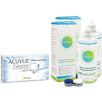Acuvue Oasys (6 lentillas) + 2 x Solunate Multi-Purpose 400 ml con estuche