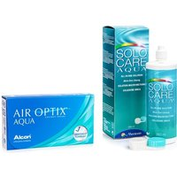 Air Optix Aqua (6 lentillas) + SOLOCARE AQUA 360 ml con estuche