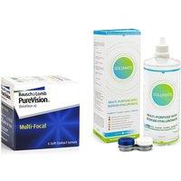 PureVision Multi-Focal (6 lentillas) + Solunate Multi-Purpose 400 ml con estuche