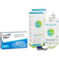 SofLens 59 (6 lentillas) + 2 x Solunate Multi-Purpose 400 ml con estuche