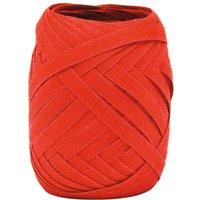 Baumwoll Kräuselband, B 5 mm, Eiknäuel à 10 m - Rot