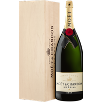 CHAMPAGNE MOET and CHANDON BRUT IMPÉRIAL SALMANAZAR 9L IN WOODEN CASE