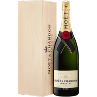 CHAMPAGNE MOET and CHANDON BRUT IMPÉRIAL JEROBOAM 3L IN WOODEN CASE