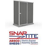 Absco Space Saver 5 x 3 Woodland Grey Pent Metal Shed
