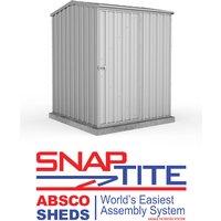 Absco 5 x 5 Titanium Metal Premier Apex Garden Storage Shed