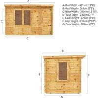 The Cypress 4m x 2.5m Log Cabin