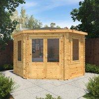 The Holly 3m x 3m Corner Log Cabin