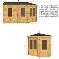 The Hemlock 5m x 3m Log Cabin