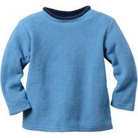 Pullover aus Bio-Fleece, jeansblau