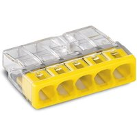 WAGO 5-COMPACT-Verbindungsklemme max. 2,5 mm² transparent Deckel gelb