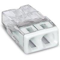 WAGO Verbindungsklemme max. 2,5 mm² transparent Deckel weiß