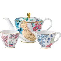 Butterfly Bloom 3 Piece Set: Teapot, Sugar Bowl and Cream Jug