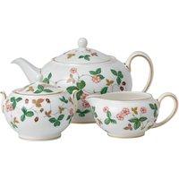 Wild Strawberry 3 Piece Set: Teapot, Sugar and Cream