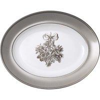 Winter White Oval Platter 35cm by Wedgwood | Fine Bone China