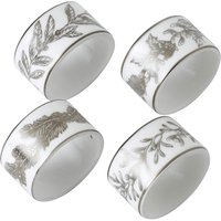 Winter White Napkin Rings Set of 4