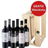 6er-Paket Luca Maronis bestbewertete Weine inkl. Weinfreunde Holzkiste - Weinpakete