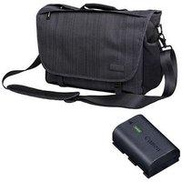 Canon LP-E6NH Battery + Calumet Messenger Bag - Medium - Dar