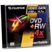 Fujifilm DVD+RW with Jewel Cases 4.7GB - 4x Speed - 5 Discs