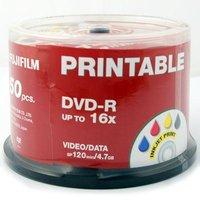 Fujifilm DVD-R Printable InkJet 4.7GB - 16x Speed - 50 Discs
