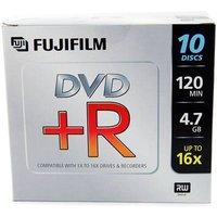 Fujifilm DVD+R with Jewel Cases 4.7GB - 16x Speed - 10 Discs