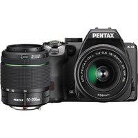 Pentax K-S2 Digital SLR Camera with 18-50mm WR and 50-200mm WR Lens - Black