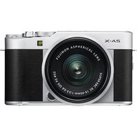 Fujifilm X-A5 Digital Camera with XC 15-45mm Lens - Silver sale image