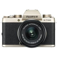 Fujifilm X-T100 Digital Camera with 15-45mm XC Lens - Champagne Gold sale image