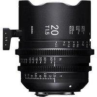Sigma Cine 20mm T1.5 FF Lens Fully Luminous - PL Mount