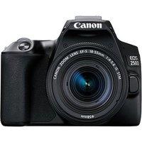 Canon EOS 250D Digital SLR Camera with 18-55mm IS STM Lens - Black