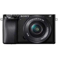 Sony A6100 Digital Camera with 16-50mm Power Zoom Lens - Black