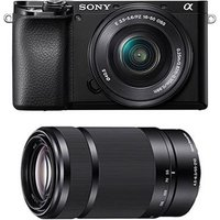 Sony A6100 Digital Camera with 16-50mm and 55-210mm Lens