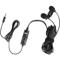 Boya Dual Mic Lavalier Microphone for Smartphones and DSLRs