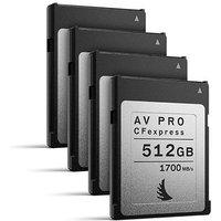 Angelbird 512GB 1700MB/Sec AV PRO CFexpress (Type-B) - 4 Pack