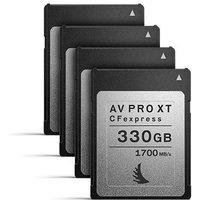Angelbird 330GB 1700MB/Sec AV PRO CFexpress XT (Type-B) - 4 Pack