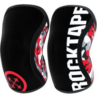 Image of Rocktape Assassin Knee Sleeves (7mm) - S Red Camo | Knee Supports