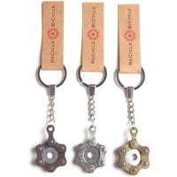 Recycle and Bicycle Recycled Bike Chain Keyring Gifts