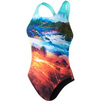 Speedo Women's LavaFlash Digital Powerback Swimsuit   One Piece Swimsuits
