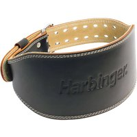"Harbinger 6"" Padded Leather Belt Weightlifting Belts"