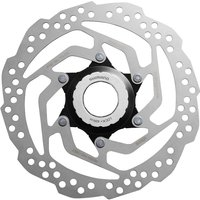Image of Shimano Tourney RT10 Centre Lock Rotor - 160mm Silver | Brake Spares