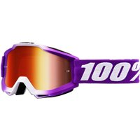 100% Accuri Youth Goggles Mirror Lens - One Size Pink