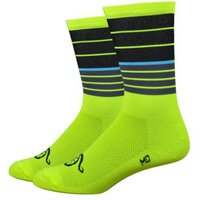 "DeFeet Aireator 6"" Handlebar Mustache (Biggie Smalls) Soc   Socks"