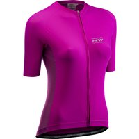 Image of Northwave Women's Allure Short Sleeve Jersey - L Cyclamen | Jerseys