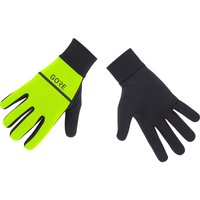 Image of Gore Wear R3 Run Gloves - Extra Small Neon Yellow/Black | Gloves