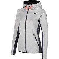 Image of Zone3 Women's Zipped Hoodie - Extra Large Marl Grey/Charcoal/E