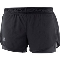 Image of Salomon Women's Agile 2 IN 1 Short - Small Black | Shorts