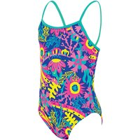 Zoggs Girls Ocean Play Yaroomba Floral Swimsuit   One Piece Swimsuits