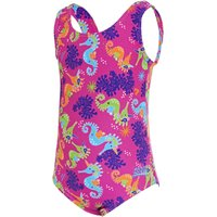 Zoggs Girls Sea Unicorn Scoopback Swimsuit   One Piece Swimsuits